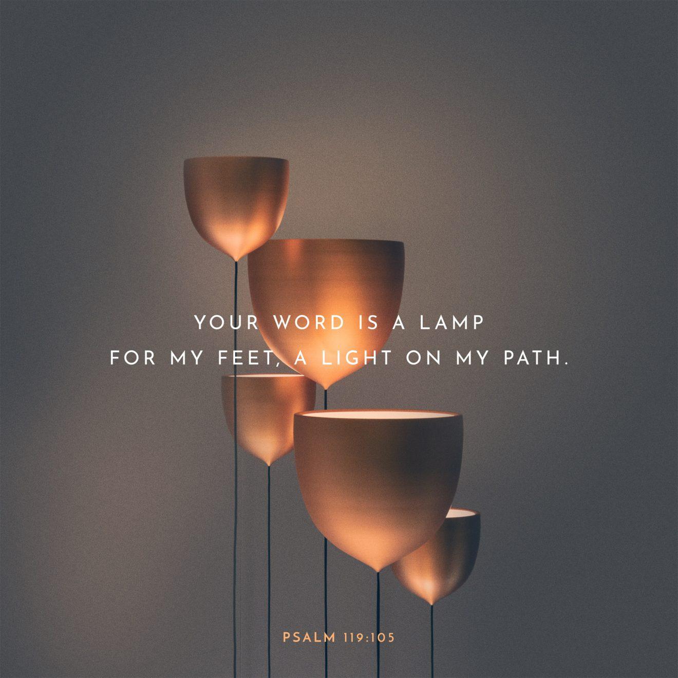 psalm 119 105 lamp god