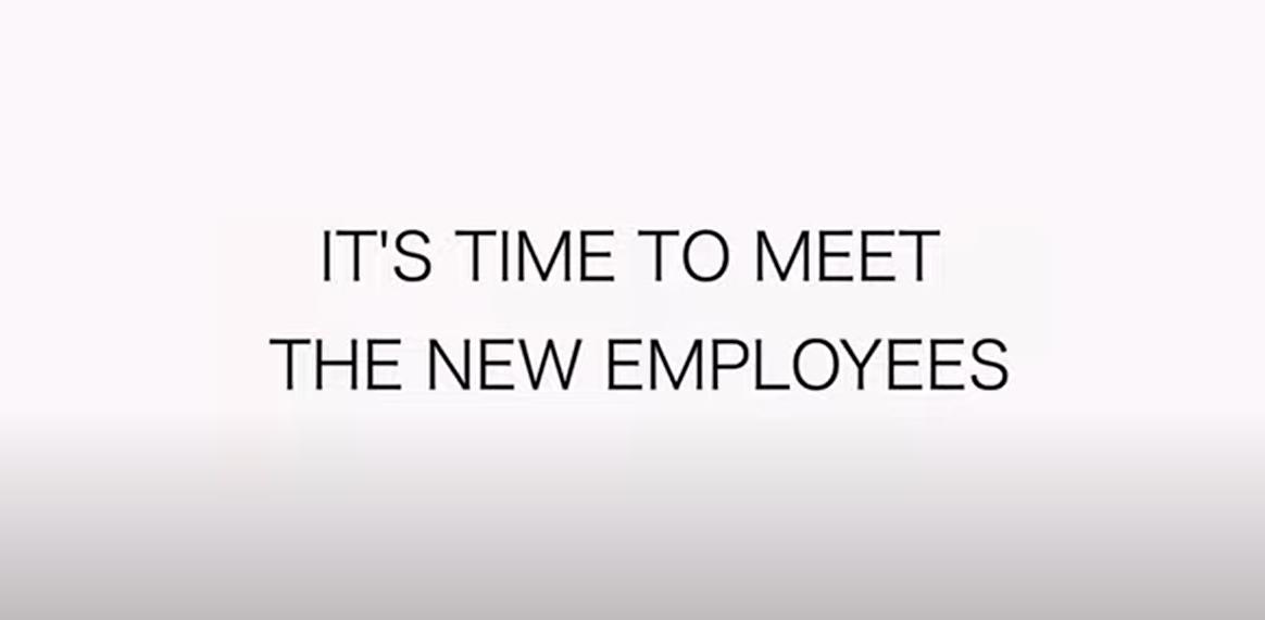 meet new employees