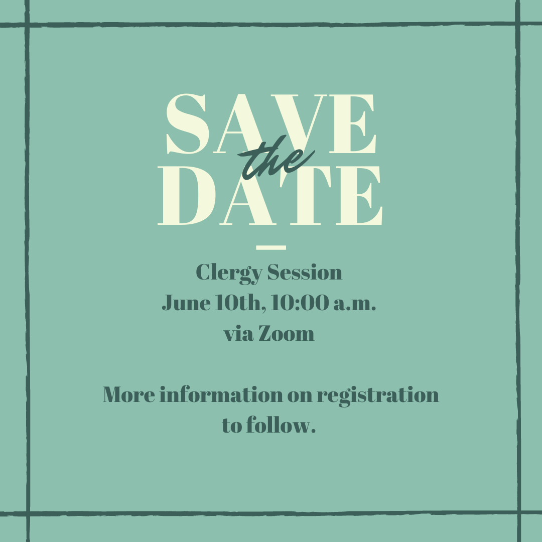 save the date clergy session 2021