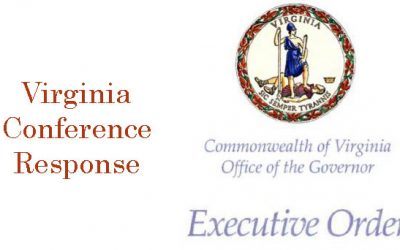 Virginia Conference of the United Methodist Church Response to Updated Governor's Order